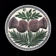 Double Thistle Butter Stamp (#1)